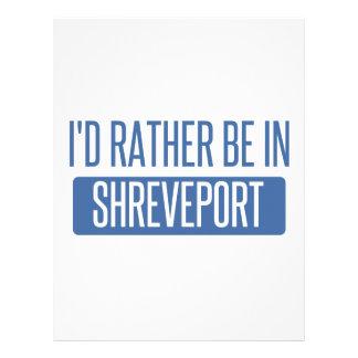 I'd rather be in Shreveport Letterhead