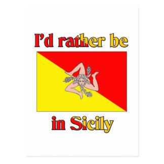 I'd Rather be in Sicily Postcard