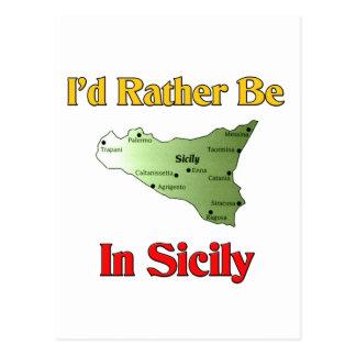 I'd Rather Be In Sicily. Postcard
