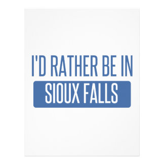 I'd rather be in Sioux Falls Personalized Letterhead