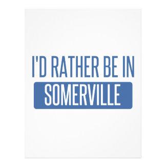 I'd rather be in Somerville Letterhead