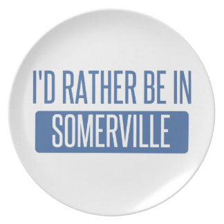 I'd rather be in Somerville Plate