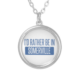 I'd rather be in Somerville Silver Plated Necklace