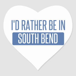 I'd rather be in South Bend Heart Sticker