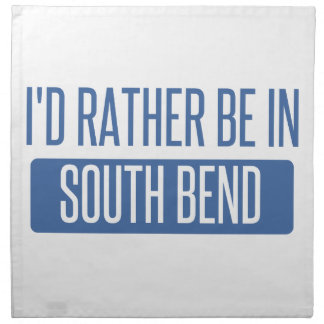 I'd rather be in South Bend Napkin