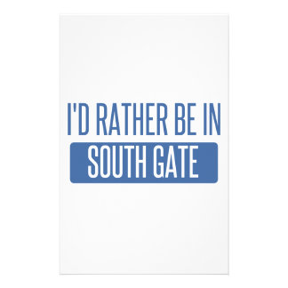 I'd rather be in South Gate Stationery