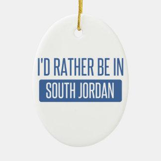 I'd rather be in South Jordan Ceramic Ornament