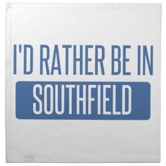 I'd rather be in Southfield Napkin