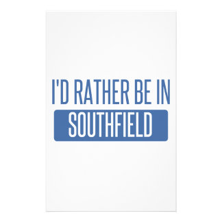 I'd rather be in Southfield Stationery