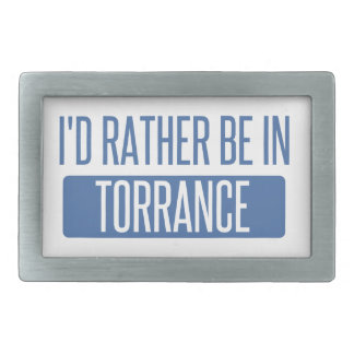 I'd rather be in Torrance Rectangular Belt Buckles