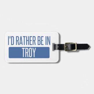 I'd rather be in Troy MI Bag Tag