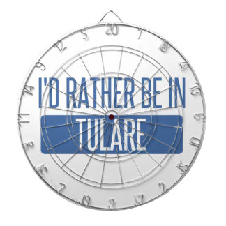 I'd rather be in Tulare Dartboard