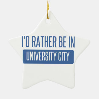 I'd rather be in University City Ceramic Star Ornament