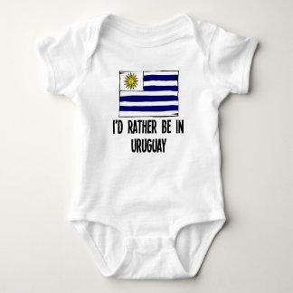 I'd Rather Be In Uruguay Baby Bodysuit