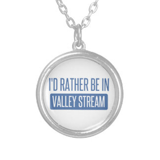 I'd rather be in Valley Stream Silver Plated Necklace