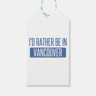 I'd rather be in Vancouver Pack Of Gift Tags