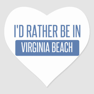 I'd rather be in Virginia Beach Heart Sticker