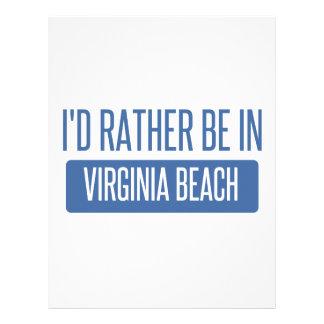 I'd rather be in Virginia Beach Letterhead