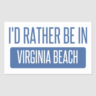 I'd rather be in Virginia Beach Sticker
