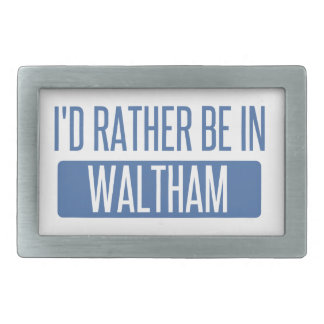 I'd rather be in Waltham Belt Buckle