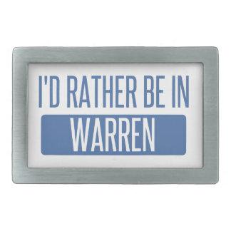 I'd rather be in Warren MI Rectangular Belt Buckle