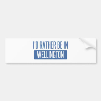 I'd rather be in Wellington Bumper Sticker