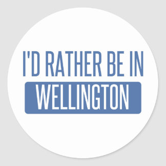 I'd rather be in Wellington Classic Round Sticker