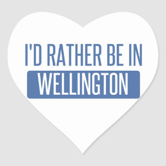 I'd rather be in Wellington Heart Sticker