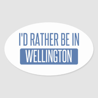 I'd rather be in Wellington Oval Sticker