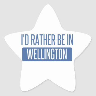 I'd rather be in Wellington Star Sticker