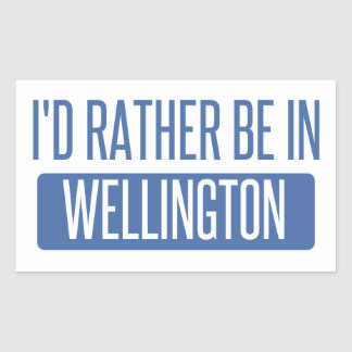 I'd rather be in Wellington Sticker