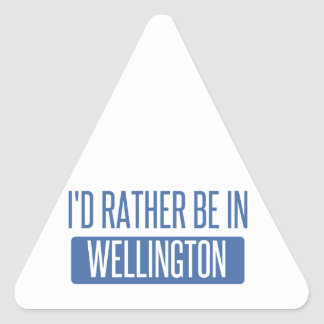 I'd rather be in Wellington Triangle Sticker