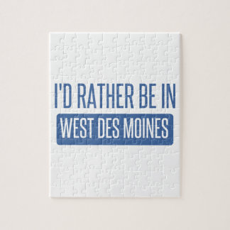 I'd rather be in West Des Moines Jigsaw Puzzle