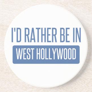 I'd rather be in West Hollywood Beverage Coasters