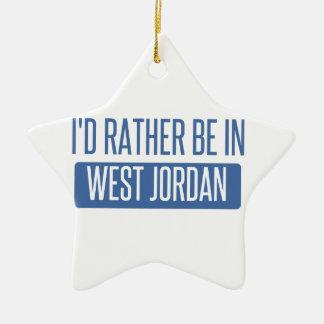 I'd rather be in West Jordan Ceramic Ornament
