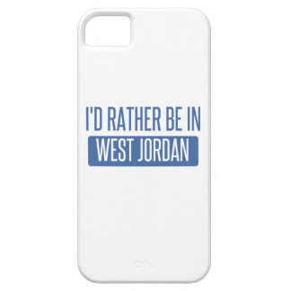 I'd rather be in West Jordan iPhone 5 Cases