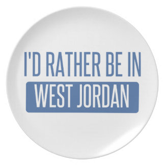I'd rather be in West Jordan Plate