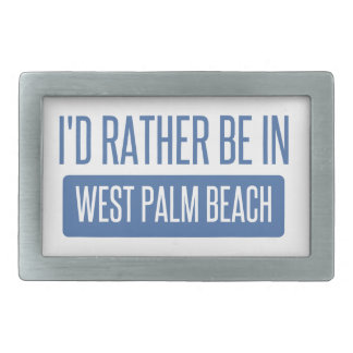 I'd rather be in West Palm Beach Belt Buckle