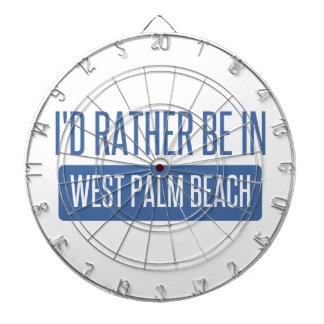 I'd rather be in West Palm Beach Dartboard