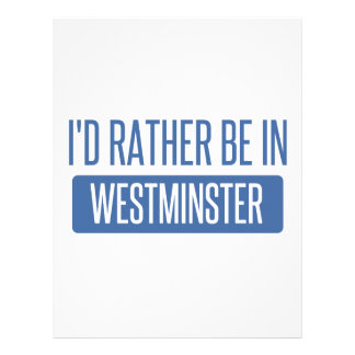 I'd rather be in Westminster CA Letterhead