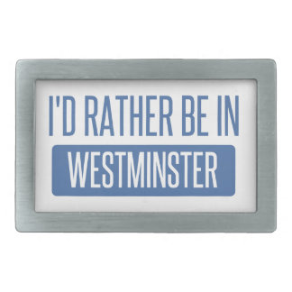 I'd rather be in Westminster CO Rectangular Belt Buckles