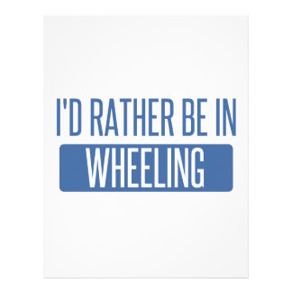 I'd rather be in Wheeling Letterhead
