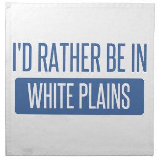 I'd rather be in White Plains Napkin