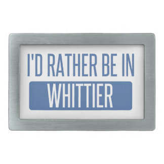 I'd rather be in Whittier Belt Buckles