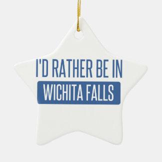 I'd rather be in Wichita Falls Ceramic Star Ornament