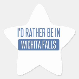 I'd rather be in Wichita Falls Star Sticker