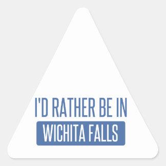 I'd rather be in Wichita Falls Triangle Sticker