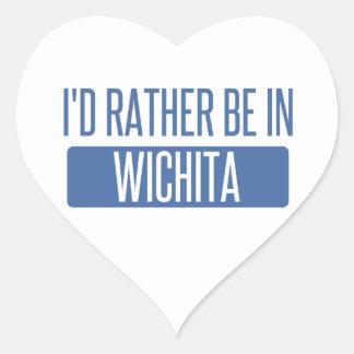I'd rather be in Wichita Heart Sticker