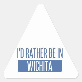 I'd rather be in Wichita Triangle Sticker