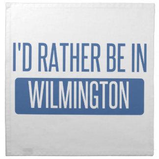 I'd rather be in Wilmington DE Napkin